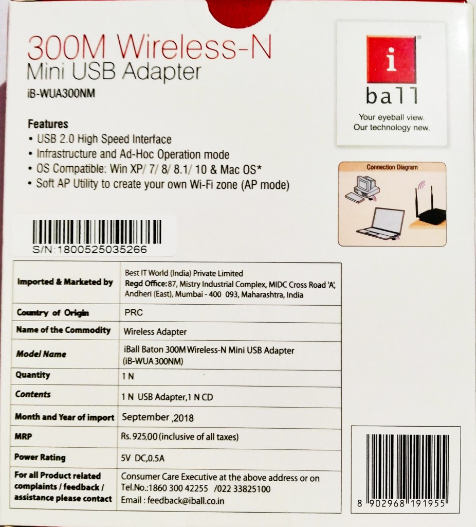 IBALL BATON 300M WIRELESS N USB ADAPTER DRIVERS DOWNLOAD FREE
